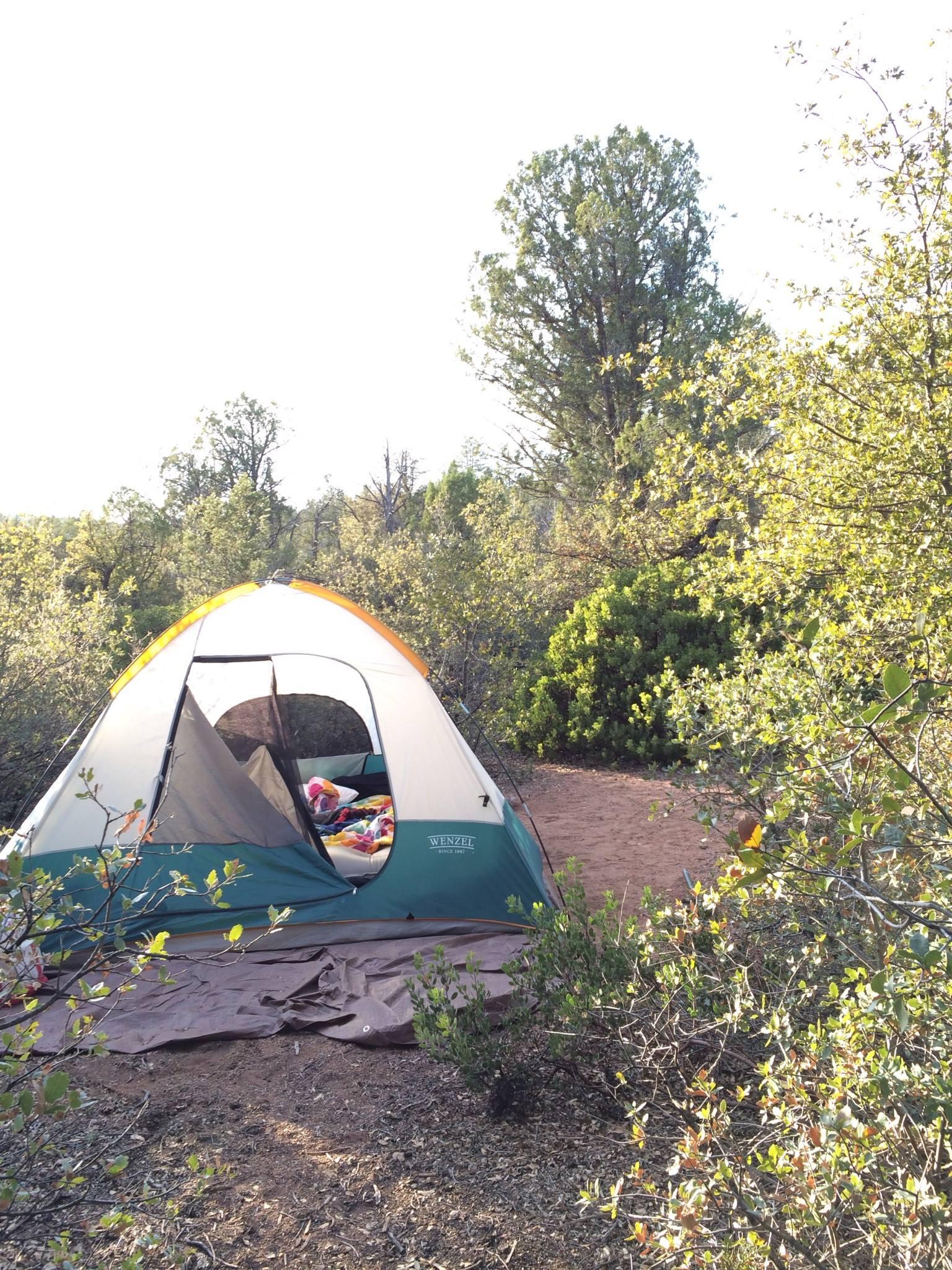 Camping at Houston Mesa CampgroundDay at Tonto Natural