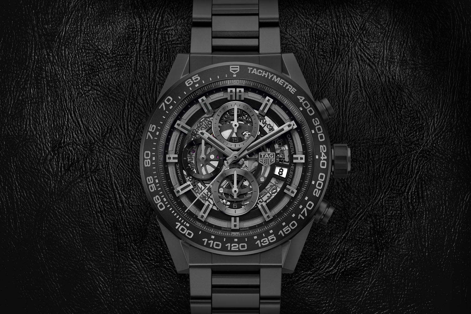 TAG Heuer Carrera Heuer 01 Full Black Matt Ceramic (Specs