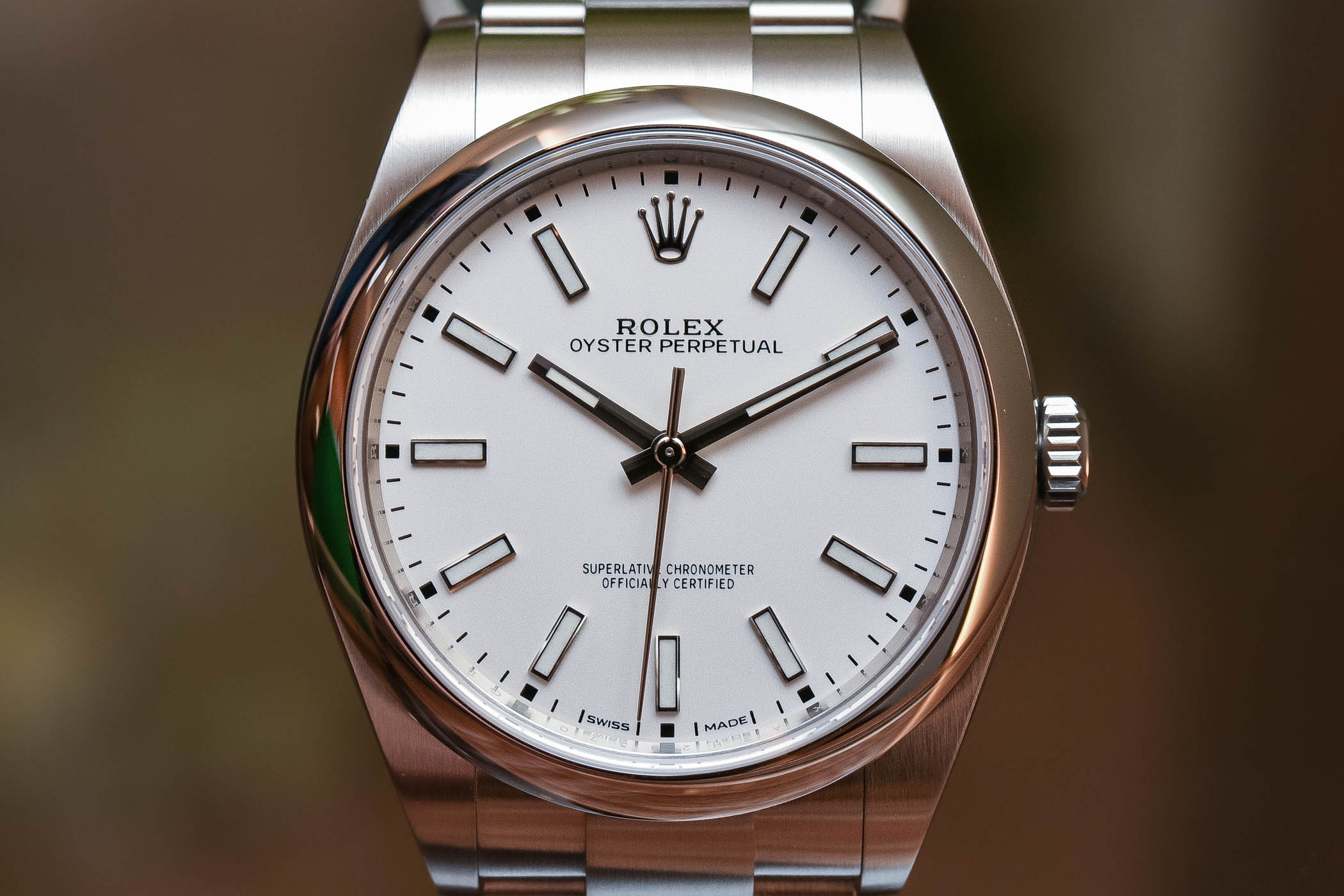 Rolex Oyster Perpetual 39 Ref 114300 White Dial