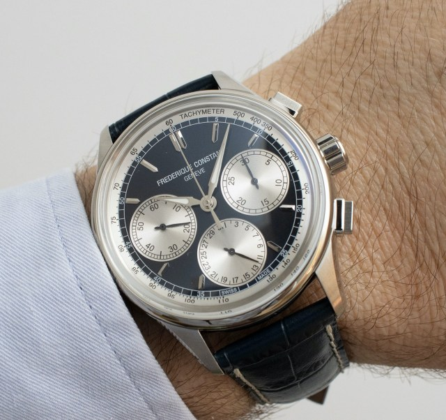 Frederique Constant Flyback Chronograph Manufacture Panda Navy