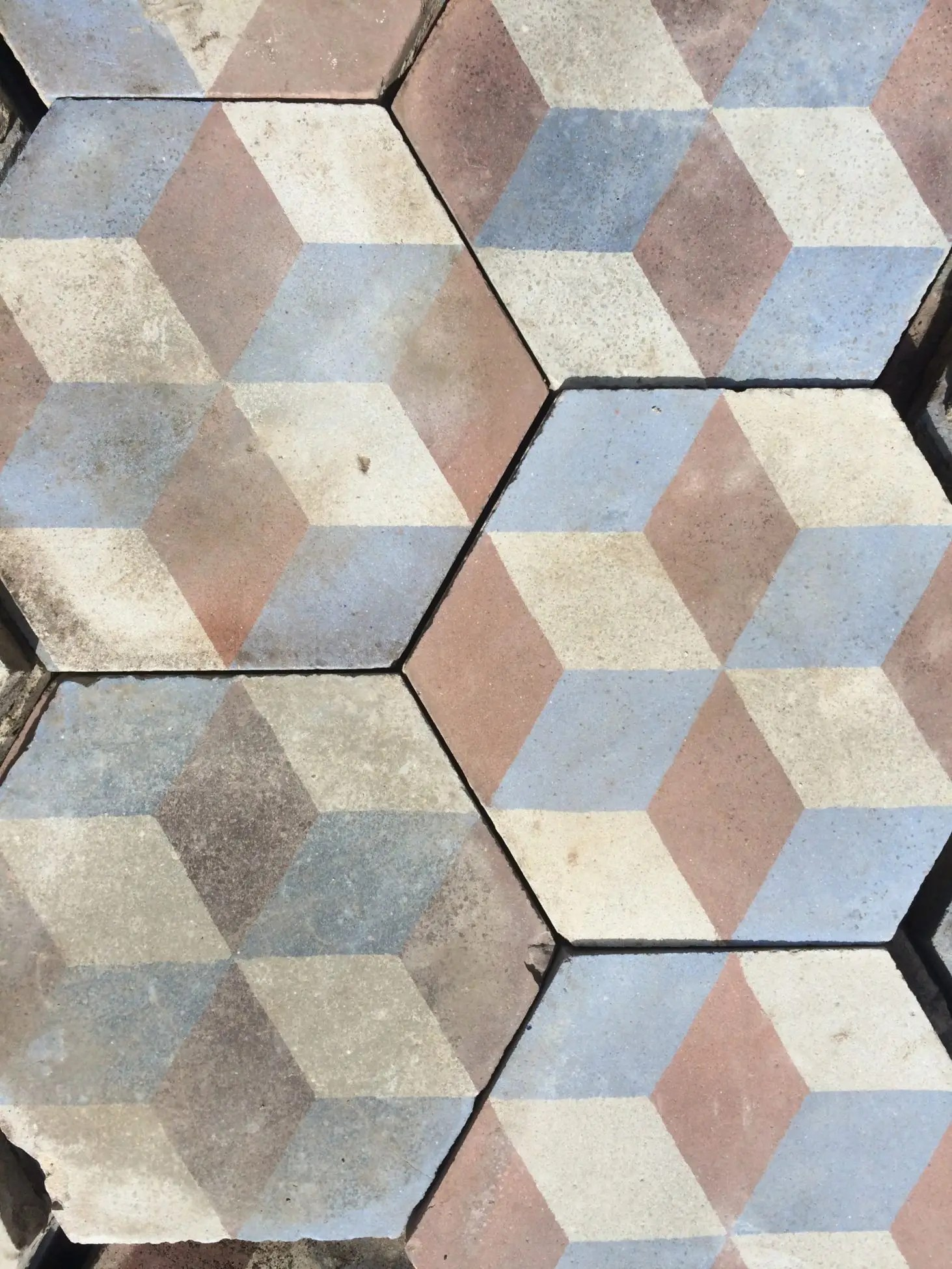 beau motif carreau de ciment ancien hexagonal