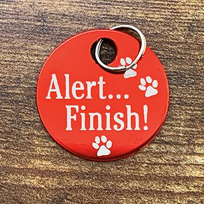 Alert Finish! RED Brag Tag