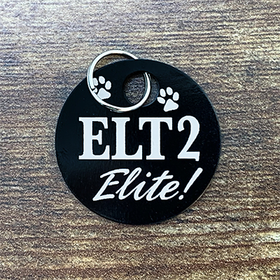 ELT-2 Elite BLACK Brag Tag