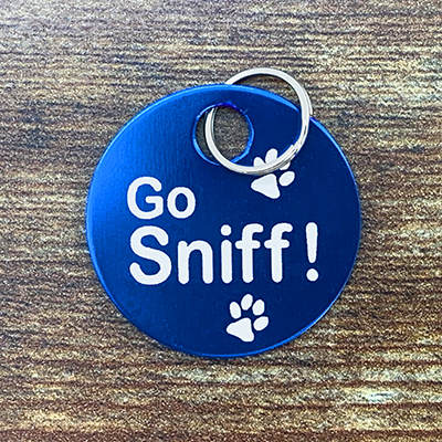 Go Sniff Brag Tag Blue
