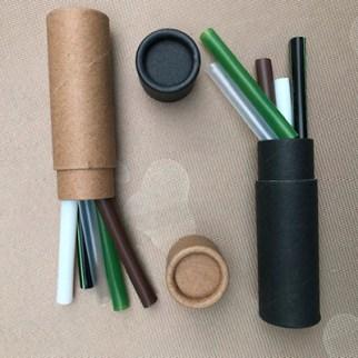 Brown Kraft Tube and 5 ECO Straws