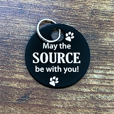 May The Source Be With You - BLACK Brag Tag