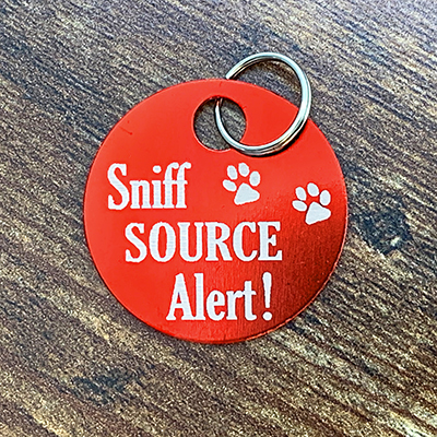 Sniff Source Alert RED Brag Tag