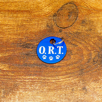 Blue ORT Level Brag Tag