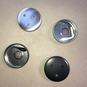 Silver and Black Button Tins