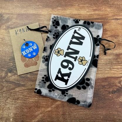 Hanukkah Gift-K9NWBrage Tag and Car Magnet in Gift Bag