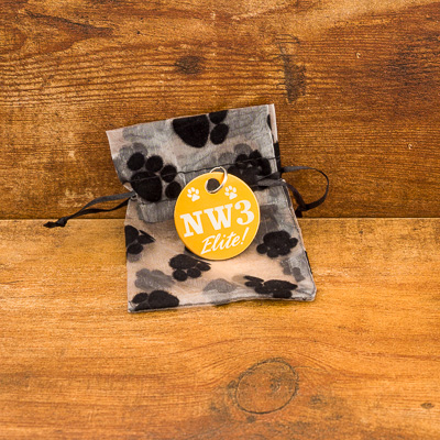 Oversized NW#-Elite GOLD Brag Tag in Gift Bag