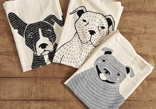 dog tea towels