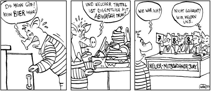 Küche Putzen Comic