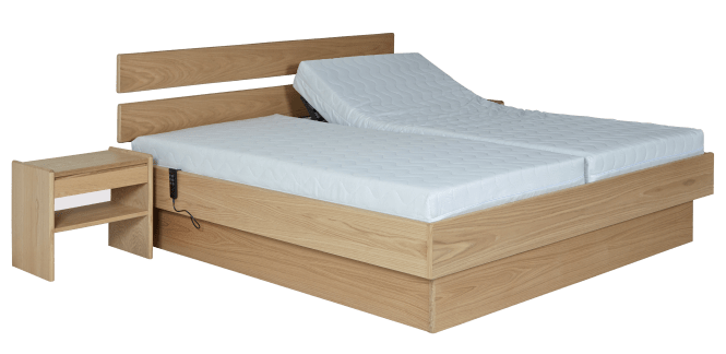 Mattress 200 X 90 Plinth Bed Frame No 381 Oiled Oak 180