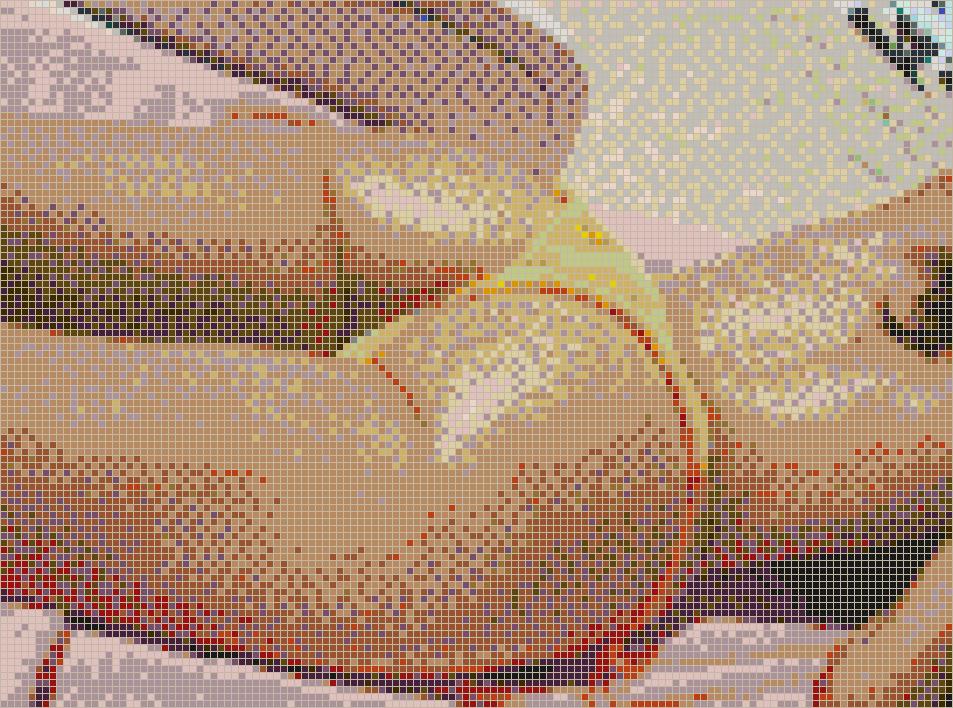 Hot Beach Girl  Mosaic Tile Art