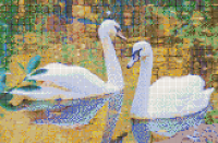 Autumn Swans - Mosaic Tile Art