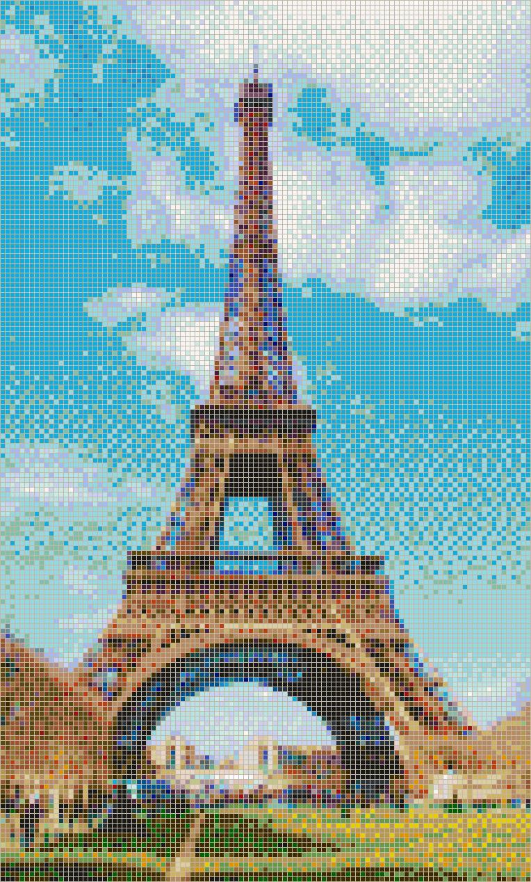 Eiffel Tower  Mosaic Tile Art