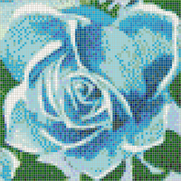 Fairy Rose (Turquoise) - Framed Mosaic Wall Art