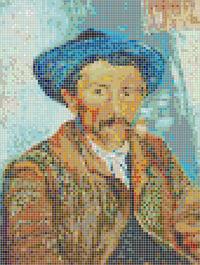 The Smoker (Van Gogh) - Framed Mosaic Wall Art