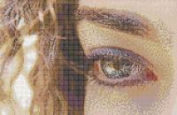Curly Eye (Alice) - Framed Mosaic Wall Art