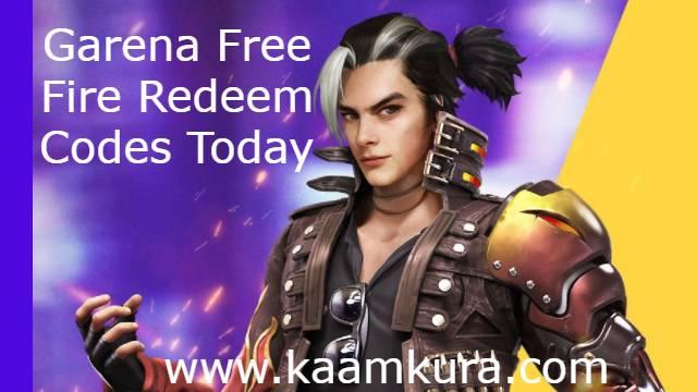 garena free fire redeem codes today