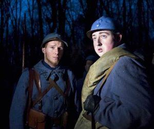 To af de medvirkende i hundredeårsdagens genskabelse af kampene i Bois des Caures. Det udstyrsmæssige niveau var uovertruffent.