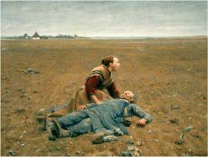 """H. A. Brændekildes """"Udslidt"""" (1889). En fantastisk illustration af, hvor inderligt frastødende fattigdom er (og en påmindelse om hvor vigtigt det er at huske på) - og iøvrigt ét af mine absolutte ynglingsmalerier."""