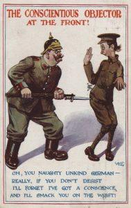 Opfattelsen af krigsmodstand blev uden tøven forklaret med svigtende mandighed.