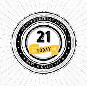 21 jaar kaart