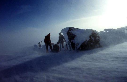 Hardangervidda i kuling. Foto: Hans Jakob Rogstad.