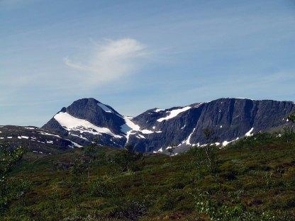 Beisfjordtøtta sett fra Sildvikdalen