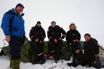 For en gjeng! Bjarne Ringstad Olsen, Øyvind Werner Øfsti, Kent Valio og Nils Johan J. Gaup. Foto: Edmund J. Grønmo.