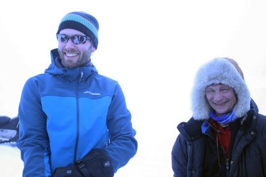 Dagen derpå. Helge Kaasin og Edmund J. Grønmo. Foto: Øyvind Werner Øfsti.