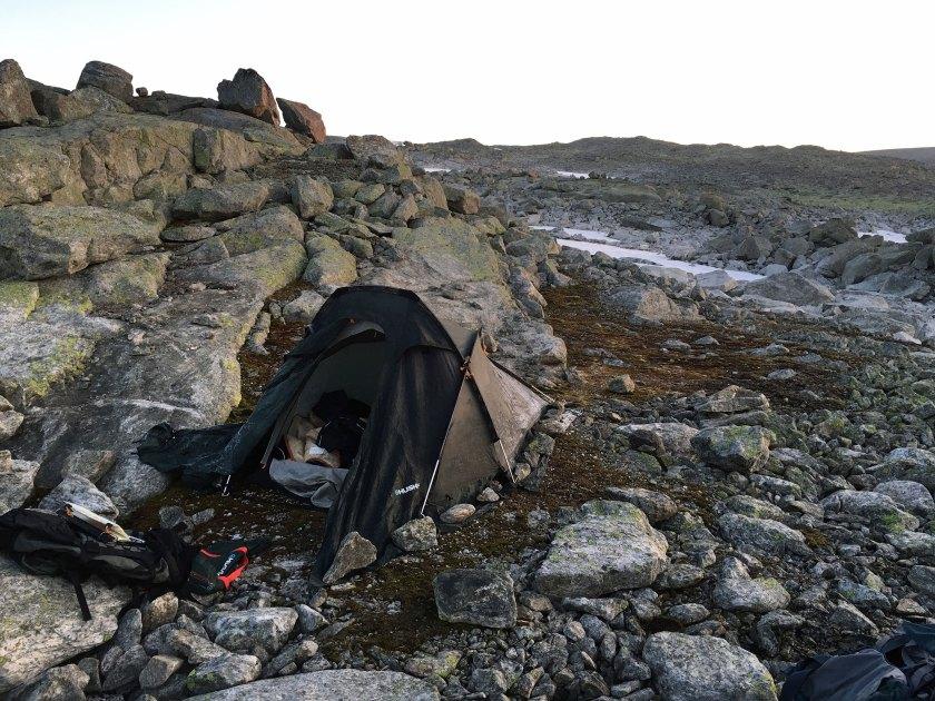 Rim på teltet.