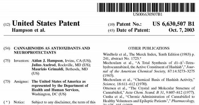 us marijuana patent
