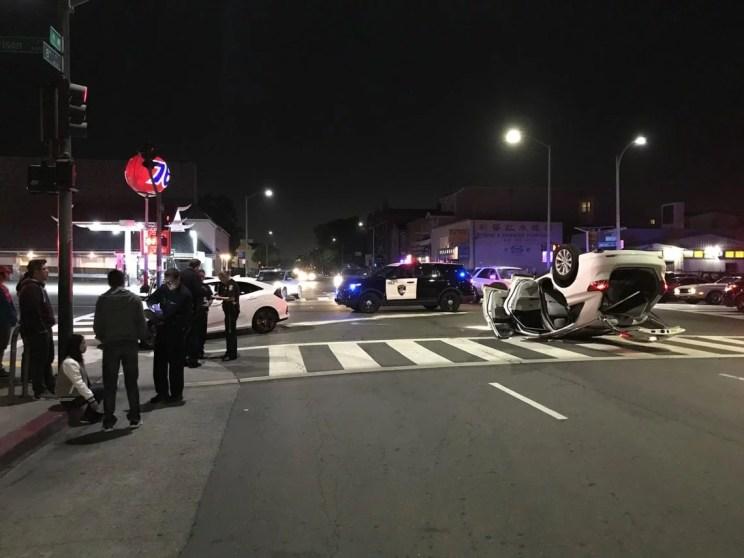 left turn auto accidents california