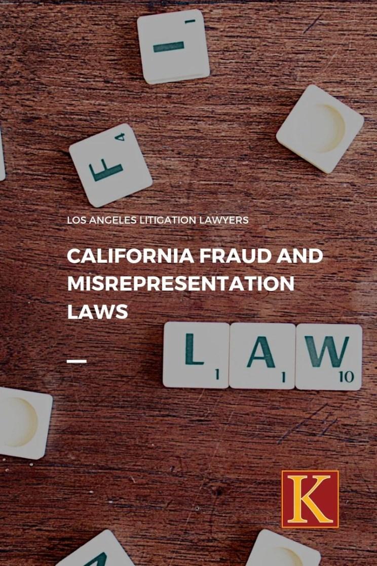California Fraud misrepresentation law