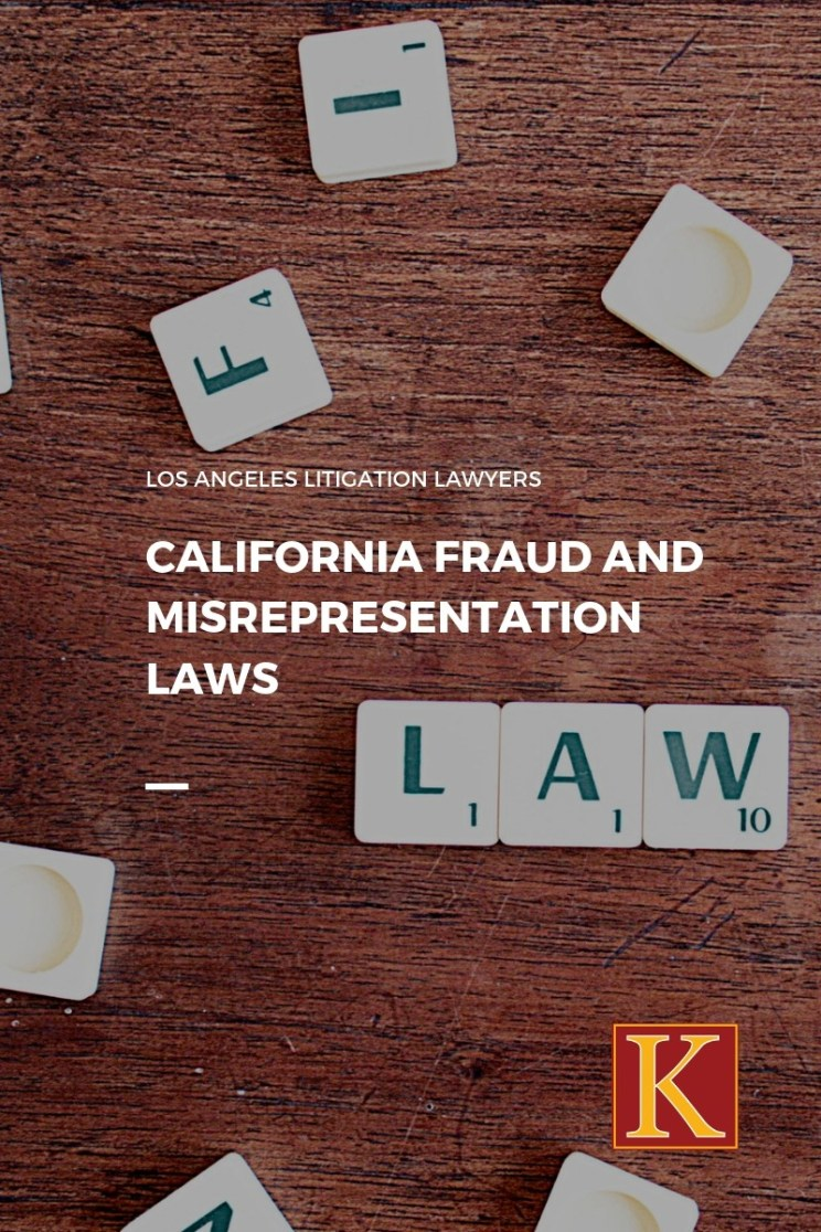 California Fraud misrepresentation law