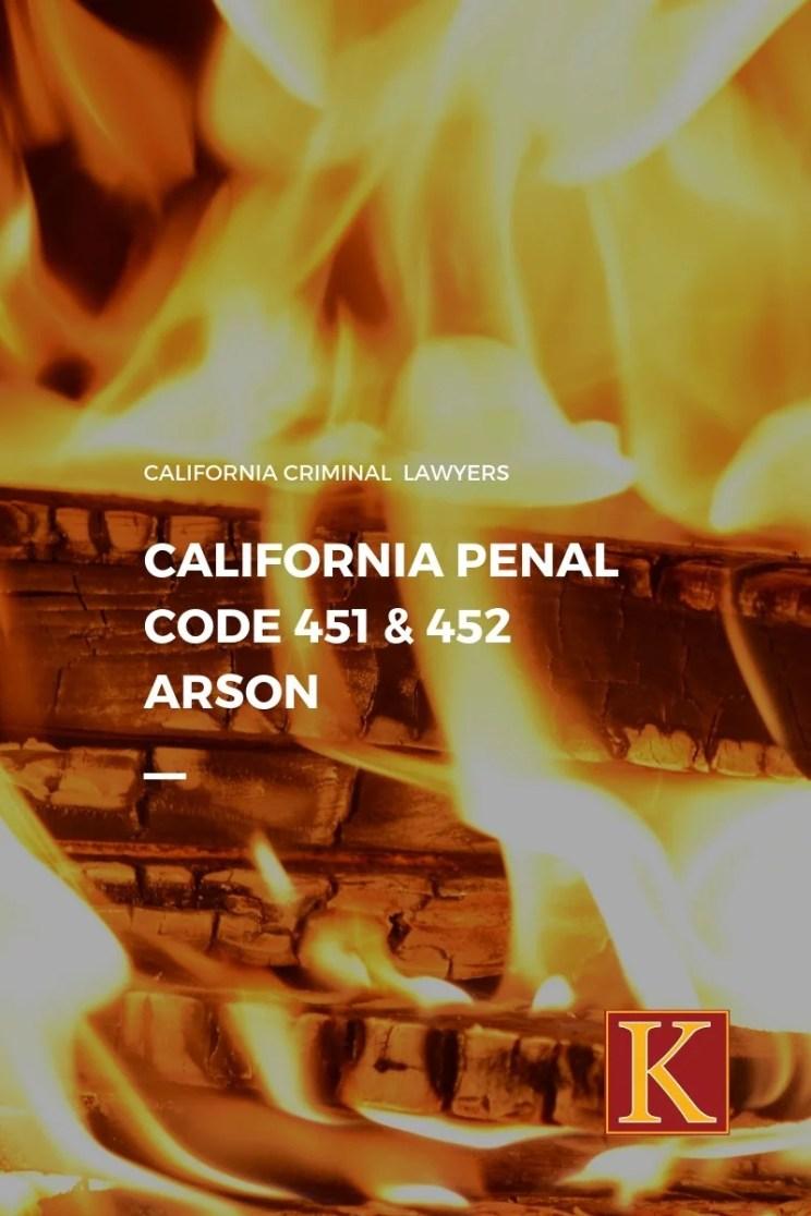 penal code 451 arson