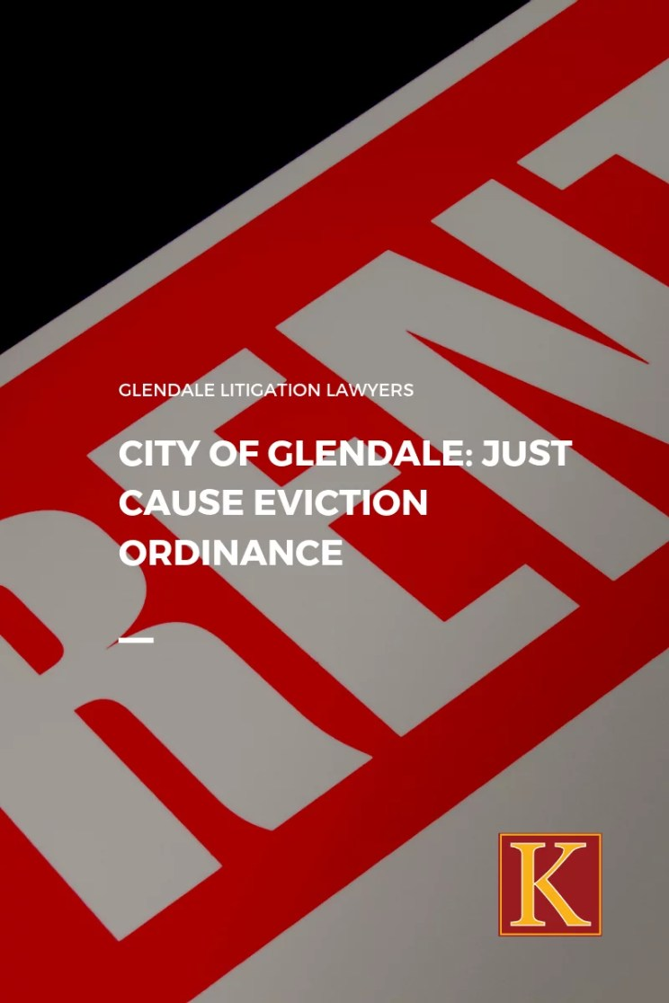 City of Glendale Just Cause Eviction Ordinance