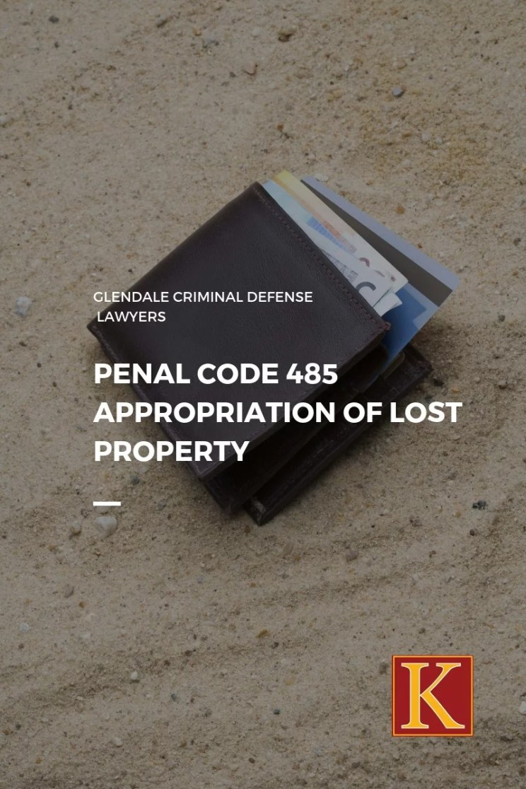 Penal Code 485 Appropriation Of Lost Property