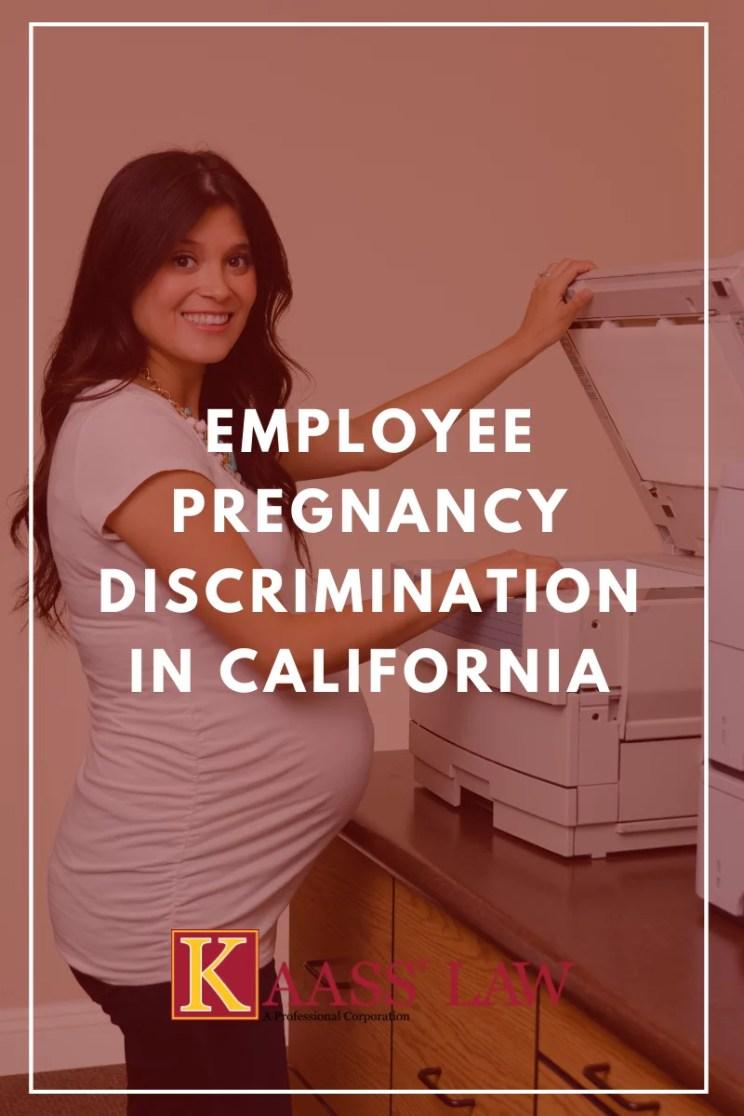 Employee Pregnancy Discrimination in California