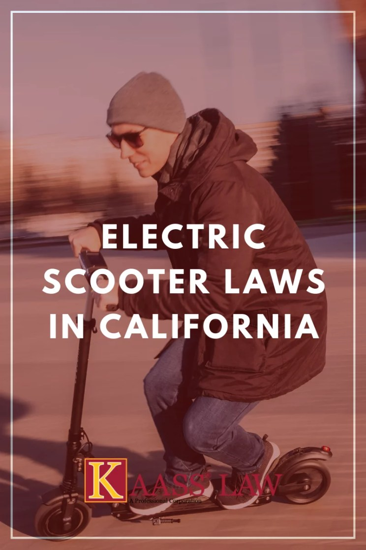 Electric Scooter Laws in California