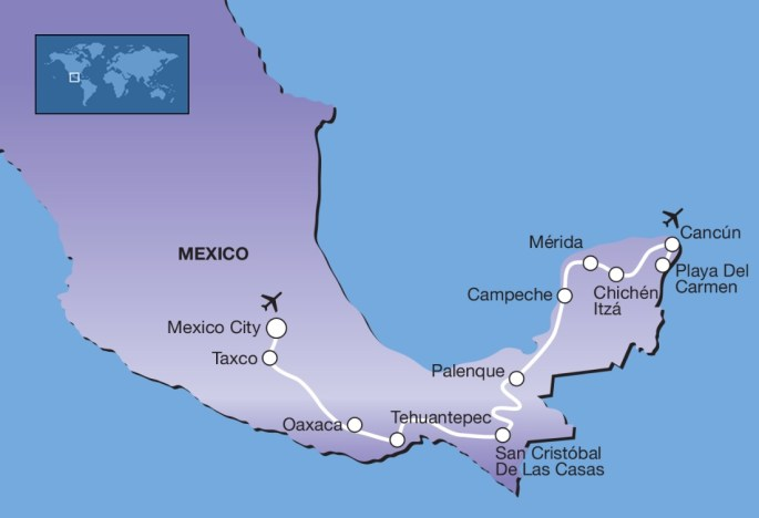 Route mexico