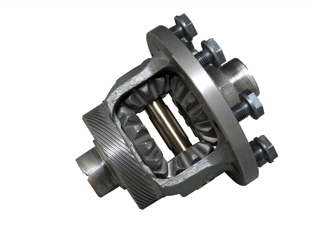 """as the name implies, the differential is the mechanical device that allows  the inside and outside wheel to rotate at different speeds in a turn  an """" open"""""""