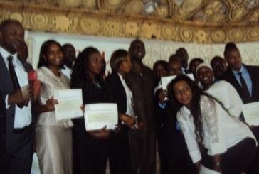 Cérémonie de remise des diplômes des étudiants de la 6èmepromotion de l'Institut ALVAGO