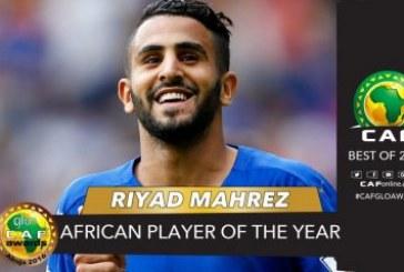 L'Algérien Riyad Mahrez sacré meilleur Joueur africain de l'année 2016