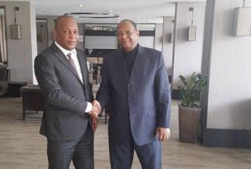Le général Sékouba Konaté rencontre Lansana Kouyaté à Paris