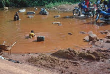 Environnement-Boké: le marigot ''Pont de fer'', pollué par les nettoyeurs de véhicules et motos