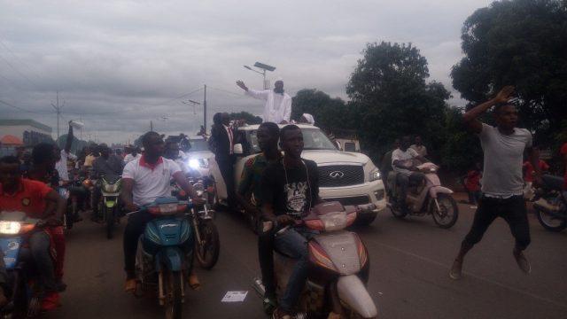Kankan : Arrivée triomphale du Dr. Ousmane Kaba dans le Nabaya !